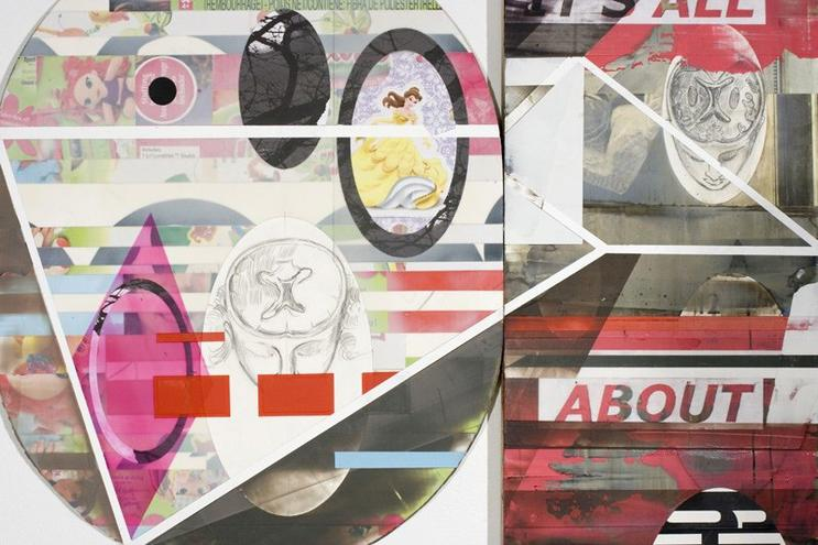 "It's All About You, 47.5"" x 22.25"", mixed media, 2010"